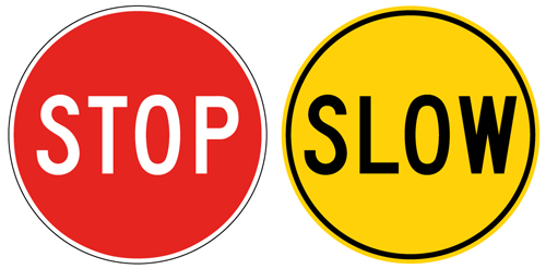Stop Slow 450mm Bat