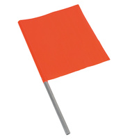 Orange Traffic Management Flag Aluminium Handle