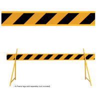 Barrier Board Black/Yellow 2500MM