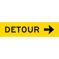 Detour Right (1200x300x6mm) Corflute