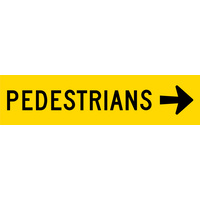 Pedestrians Right (1200x300x6mm) Corflute