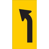 Left Turn Lane Ahead (300x600x6mm) Corflute