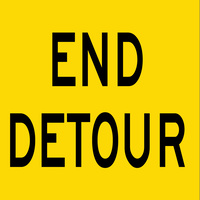 End Detour (600x600x6mm) Corflute