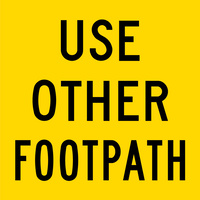 Use Other Footpath (600x600x6mm) Corflute