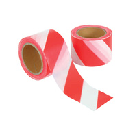 Barrier Tape Red White 75mm x 100m