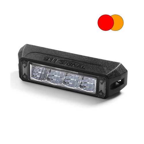 TC4 12W Amber/Red LED Warning Light Head