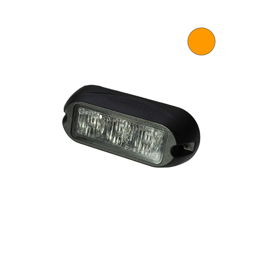 H3 9W Amber LED Warning Light Head