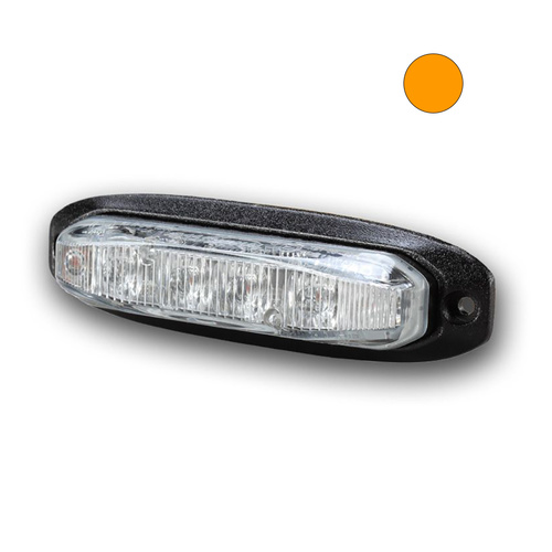 X6 18W Amber LED Warning Light Head with TIR Lens