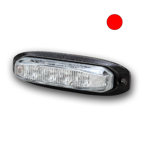 X6 18W Red LED Warning Light Head with TIR Lens