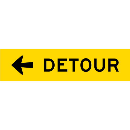 Detour Left (1200x300x6mm) Corflute
