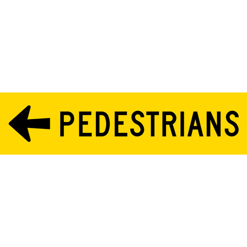 Pedestrians Left (1200x300x6mm) Corflute