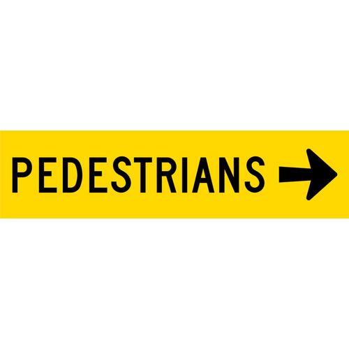Pedestrians Left 1200 X 300 Corflute Tm8 V2r