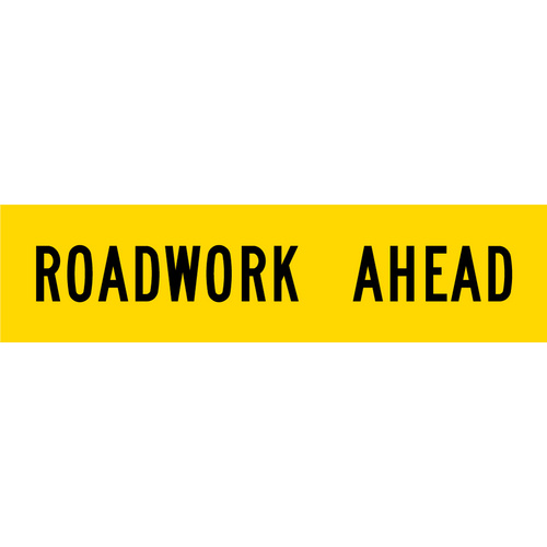 Roadwork Ahead (1200x300x6mm) Corflute