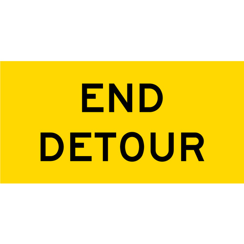 End Detour (1200x600x6mm) Corflute
