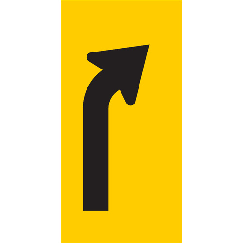 Right Turn Lane Ahead (300x600x6mm) Corflute