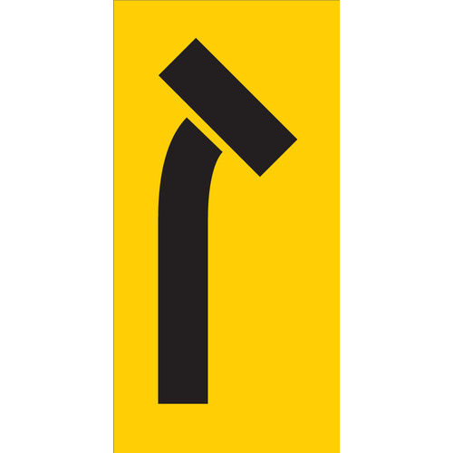Right Turn Lane Closed (300x600x6mm) Corflute