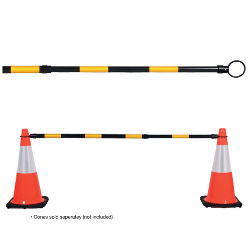 Black/Yellow Extendable Cone Bar (20 Pack)